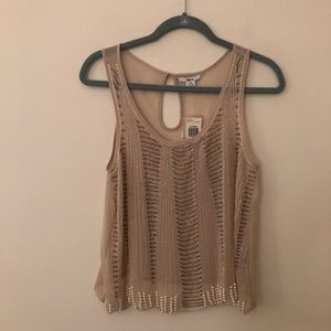 NWT Bar III Beaded Tank Top